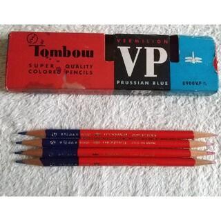 トンボエンピツ(トンボ鉛筆)のトンボ 赤青鉛筆4本  未使用(色鉛筆)