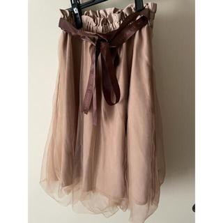 アマベル(Amavel)のアマベル チュールスカート 未使用(ひざ丈スカート)