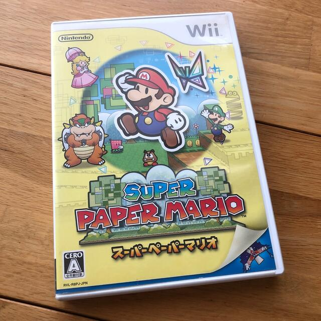 Wii(ウィー)のスーパーペーパーマリオ Wii エンタメ/ホビーのゲームソフト/ゲーム機本体(家庭用ゲームソフト)の商品写真