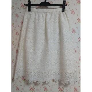 ウィルセレクション(WILLSELECTION)のフラワーレーススカート(ひざ丈スカート)