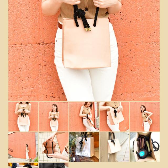 IL BISONTE(イルビゾンテ)のLONA 白ヌメ トート ツイストコード レディースのバッグ(トートバッグ)の商品写真