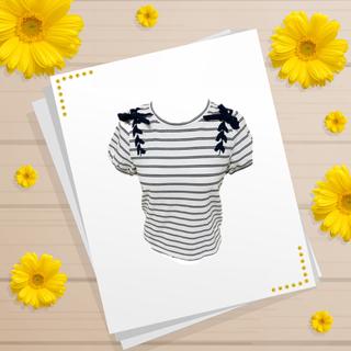 ナイスクラップ(NICE CLAUP)のnice  claup トップ(Tシャツ(長袖/七分))