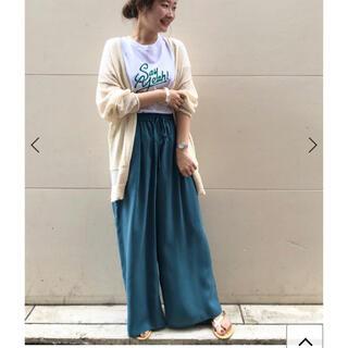 IENA SLOBE - スローブイエナキュプラタックパンツ完売☆グリーンパンツワンピーススカート