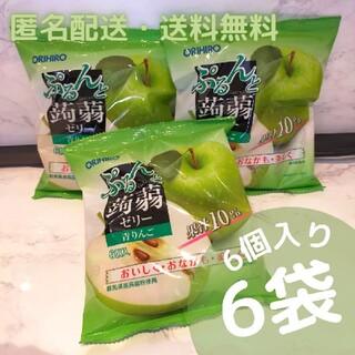 オリヒロ(ORIHIRO)のオリヒロ ぷるんと蒟蒻ゼリー パウチ 青りんご×6袋(菓子/デザート)