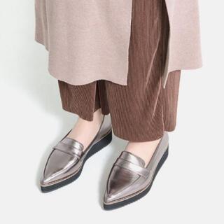 マミアン(MAMIAN)の23㎝ マミアン プラットフォームローファー スチール (ローファー/革靴)