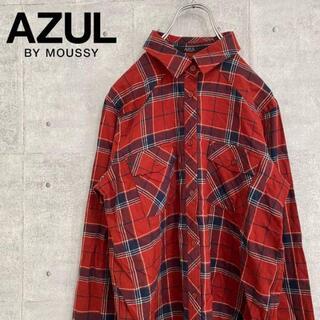 アズールバイマウジー(AZUL by moussy)の【タグ付き・新品】アズールバイマウジー ネルシャツ チェック(シャツ)