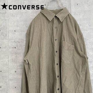コンバース(CONVERSE)のコンバース チェックシャツ ビッグシルエット ゆるだぼ 古着 90s(シャツ)