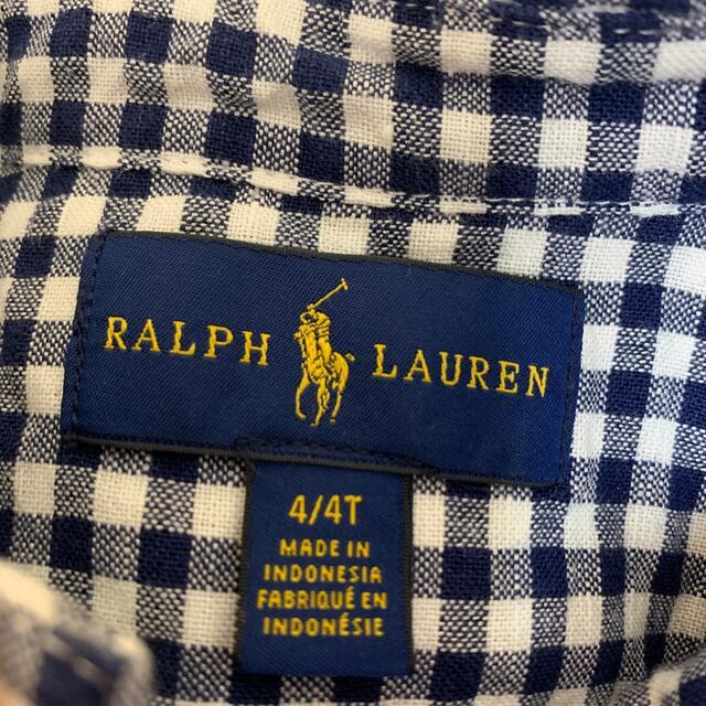 Ralph Lauren(ラルフローレン)のラルフローレン キッズ 長袖シャツ キッズ/ベビー/マタニティのキッズ服男の子用(90cm~)(ブラウス)の商品写真