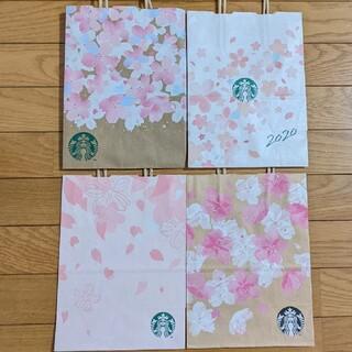 Starbucks Coffee - 🌸美品 スタバ サクラ ショッパー 紙袋 4枚セット