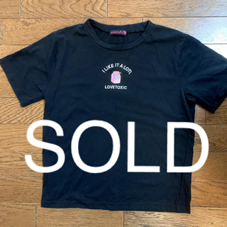 lovetoxic - 売切れ!美品★Tシャツ 黒 140〜150