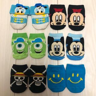ディズニー(Disney)のディズニー 靴下 ベビー 新生児 ミッキー ドナルド マイク ワンピース ニコ(靴下/タイツ)