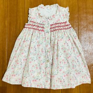 ボンポワン(Bonpoint)のAmaia Kids アマイアキッズ ワンピース スモック刺繍 花柄 2y(ワンピース)