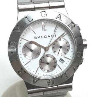 BVLGARI - ブルガリ CH35S ディアゴノ スポーツクロノ メンズ 腕時計 SS ホワイト