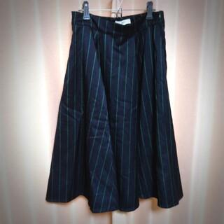 オゾック(OZOC)のOZOC ストライプ スカート Mサイズ(ひざ丈スカート)