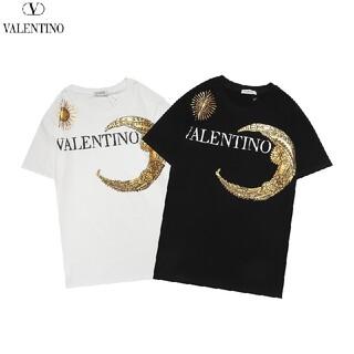 ヴァレンティノ(VALENTINO)の8000円2枚バレンチノvalentino1201 トップス 丸襟Tシャツ (Tシャツ/カットソー(半袖/袖なし))