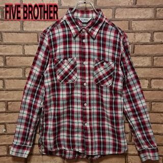 FIVE BROTHER ファイブブラザー メンズ チェック シャツ(シャツ)