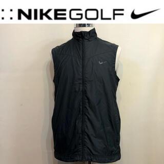 ナイキ(NIKE)のNIKE ナイキ ゴルフ  ダブルジップ ナイロン ベスト  ブラック Lサイズ(ウエア)