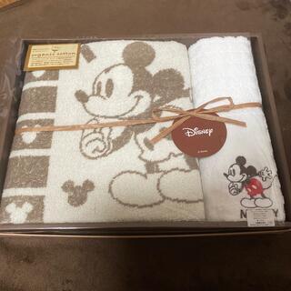 ミッキーマウス(ミッキーマウス)のミッキーマウス ウォッシュタオル バスタオル セット 新品未使用(タオル/バス用品)