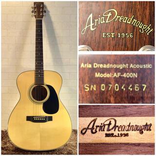 アリアカンパニー(AriaCompany)の1417.Aria AF-400N/トップ単板/超低弦高調整‼️(アコースティックギター)