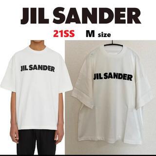 Jil Sander - 21SS【新品】JIL SANDER ロゴ プリント コットン Tシャツ M