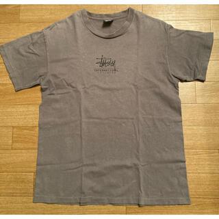STUSSY - ステューシー/インターナショナル Tシャツ/チャコールグレー/メンズ Mサイズ