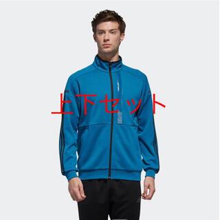アディダス(adidas)のアディダス24/7ヘザーウォームアップジャケット上下L(ウォーキング)