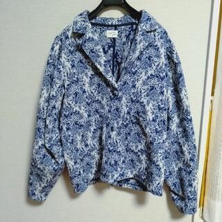 メリージェニー(merry jenny)のflower gardenジャガードジャケット ブルー メリージェニー(ブルゾン)