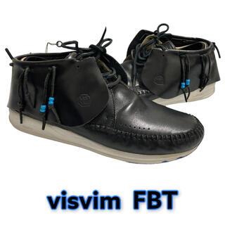 ヴィスヴィム(VISVIM)の【美品】VISVIM FBT 29cm BLACK ヴィズビム レザー (スニーカー)