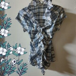 ナラカミーチェ(NARACAMICIE)のナラカミーチェ 美品 フリル シャツ ブラウス(シャツ/ブラウス(半袖/袖なし))