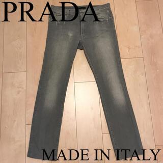 プラダ(PRADA)のプラダ イタリア製 ストレッチスキニーデニム ダメージ加工 デニムパンツ グレー(デニム/ジーンズ)