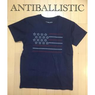 アンチ(ANTI)のANTIBALLISTIC 星条旗刺繍Tシャツ(Tシャツ/カットソー(半袖/袖なし))