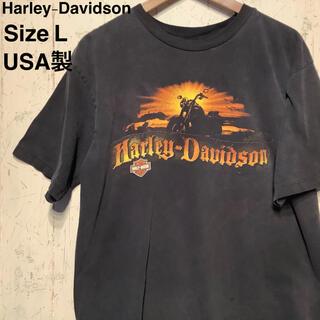 Harley Davidson - Harley-Davidson  USA製 ブラックTシャツ 了解プリント L