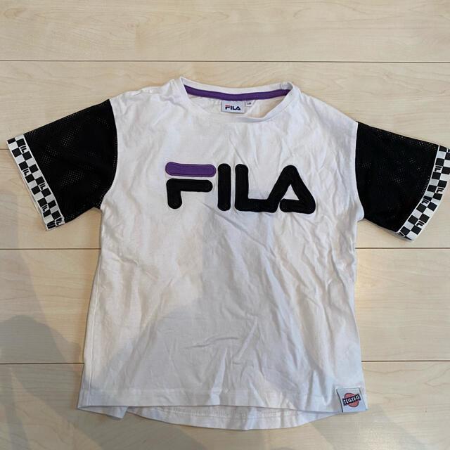 FILA(フィラ)のFILA TEGTEG girls2コラボ Tシャツ 130 Right-on キッズ/ベビー/マタニティのキッズ服女の子用(90cm~)(Tシャツ/カットソー)の商品写真