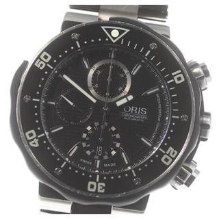 オリス(ORIS)のオリス プロダイバー クロノグラフ 7630-71 自動巻き メンズ 【中古】(腕時計(アナログ))