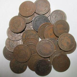 竜2銭銅貨30枚セット 古銭 サービス品(貨幣)