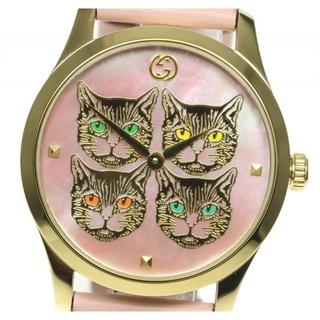 グッチ(Gucci)の☆美品 グッチ Gタイムレス 4キャットモチーフ 126.4 メンズ 【中古】(腕時計(アナログ))