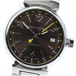 ルイヴィトン(LOUIS VUITTON)の☆美品 ルイ・ヴィトン タンブール デイト GMT Q1131 メンズ 【中古】(腕時計(アナログ))