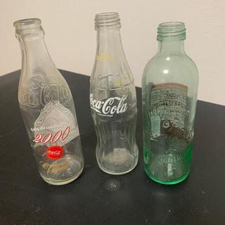 コカコーラ(コカ・コーラ)のコカコーラ 瓶 ボトル 3本(置物)
