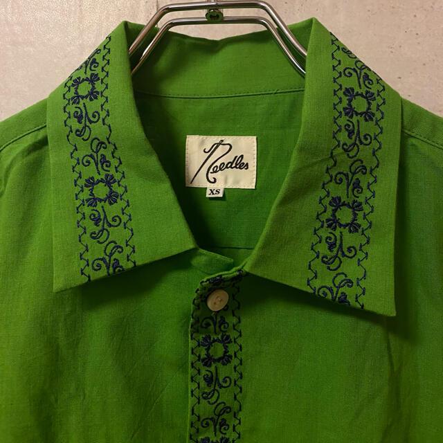 Needles(ニードルス)の希少 ★ Needles ニードルス 蝶々刺繍  背面刺繍 長袖シャツ メンズのトップス(シャツ)の商品写真