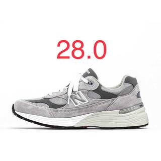 ニューバランス(New Balance)の【28.0】new balance m992gr ニューバランス グレー(スニーカー)