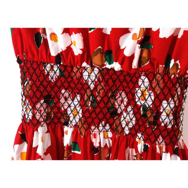 kate spade new york(ケイトスペードニューヨーク)の◆21人気新作 新品 kate spade 赤花柄ワンピース 009 レディースのワンピース(ひざ丈ワンピース)の商品写真