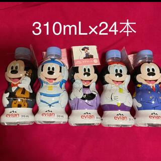 ディズニー(Disney)のエビアン evian   ナチュラルミネラルウォーター ディズニーラベル 24本(ミネラルウォーター)
