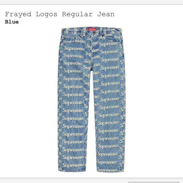 Supreme(シュプリーム)のsupreme Frayed Logos Regular Jean  30 メンズのパンツ(デニム/ジーンズ)の商品写真