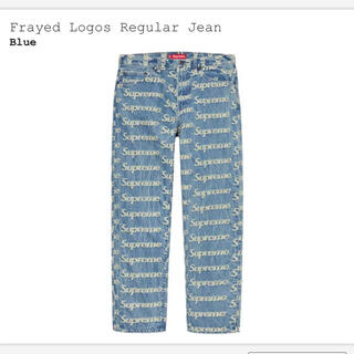 Supreme - supreme Frayed Logos Regular Jean  30
