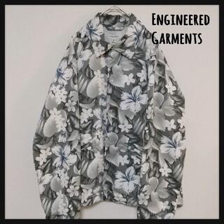 エンジニアードガーメンツ(Engineered Garments)の【レア】エンジニアードガーメンツ 総柄 花 コーチ ジャケット ナイロン アロハ(ナイロンジャケット)