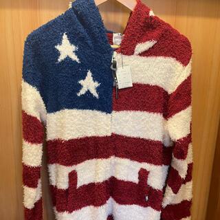 ティーエムティー(TMT)のTMT SHAGGY BOA US FLAG KNIT PARKA 新品(パーカー)