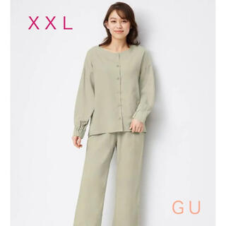 GU - GU『レーヨンラウンジセット(ライトグリーン・XXL)』