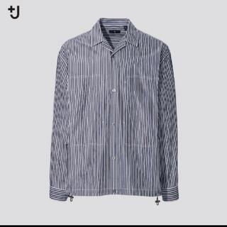 UNIQLO - スーピマコットンオーバーサイズシャツブルゾン +j
