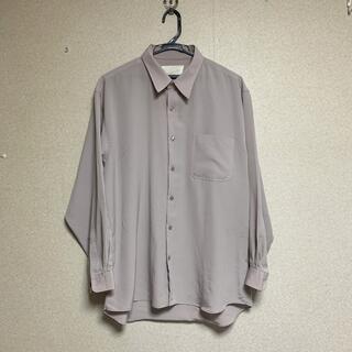 Jieda - Vintage とろみオーバーシャツ 古着 くすみ アイボリー ベージュ