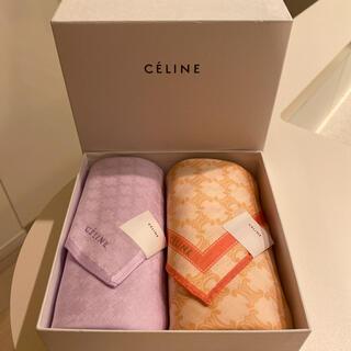 セリーヌ(celine)の新品 celine ハンカチ2枚セット 総柄 旧ロゴ(ハンカチ)